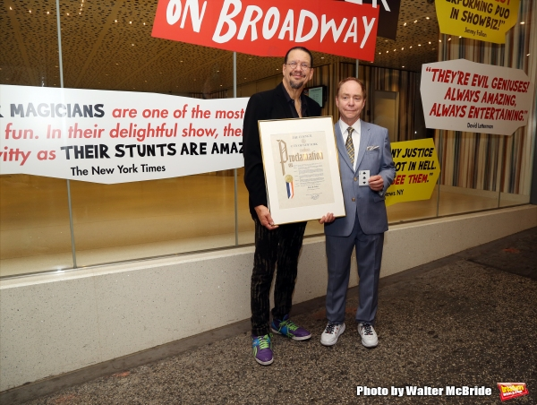 Photo Coverage: Penn & Teller Honored with Proclamation from City of New York!