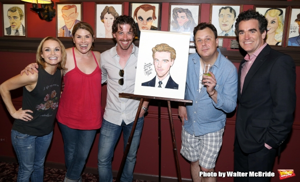 Kate Reinders, Heidi Blickenstaff, Christian Borle, Brooks Ashmanskas and Brian d'Arcy James