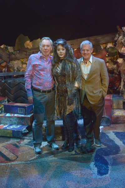 Andrew Lloyd Webber and Cameron Mackintosh with Jane McDonald