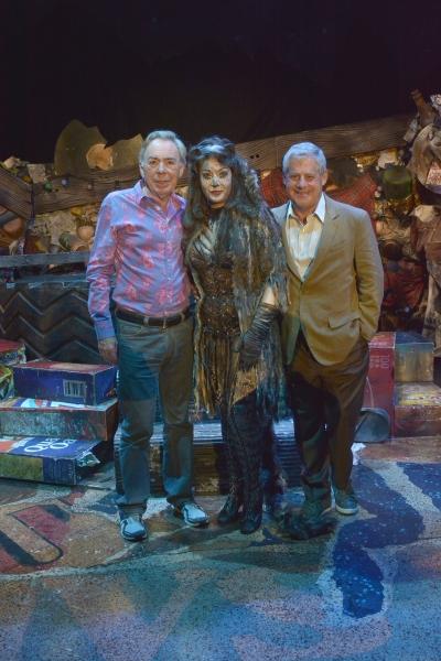 Andrew Lloyd Webber and Cameron Mackintosh with Jane McDonald