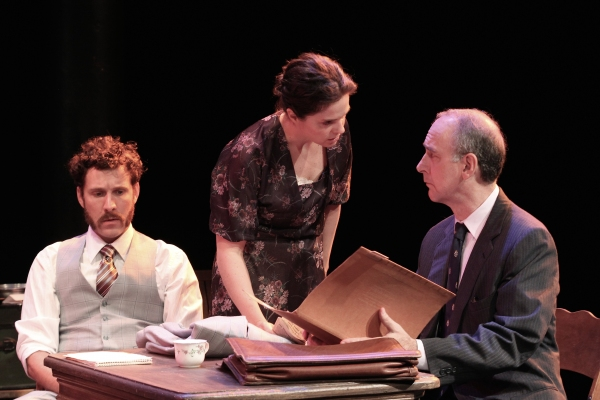 STUART WILLIAMS, SOPHIE SORENSEN and MICHAEL COUNTRYMAN in THE REPORT