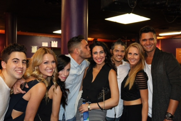 Photo Flash: BALLROOM WITH A TWIST Stars Visit RUTHLESS! Off-Broadway