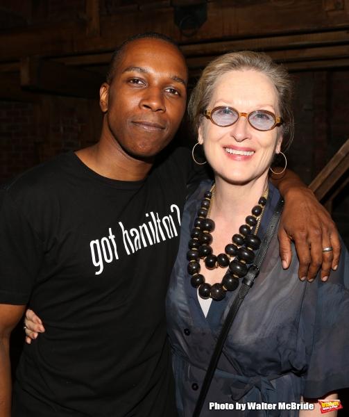 Meryl Streep visits Leslie Odom Jr.
