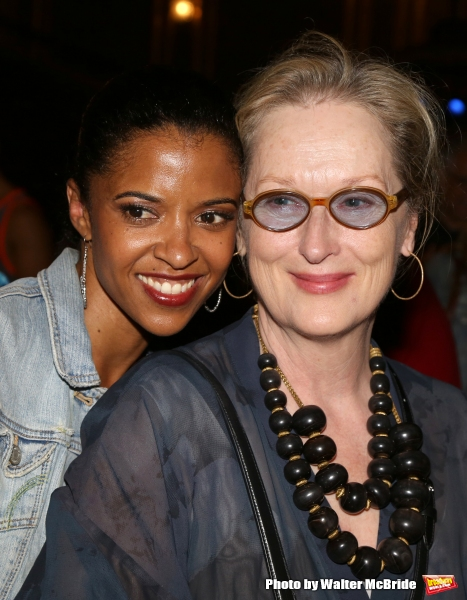 Meryl Streep visits Renee Elise Goldsberry