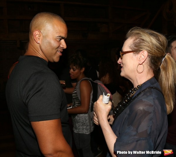 Exclusive Photo Coverage: Meryl Streep Stops By Richard Rodgers to Catch HAMILTON!