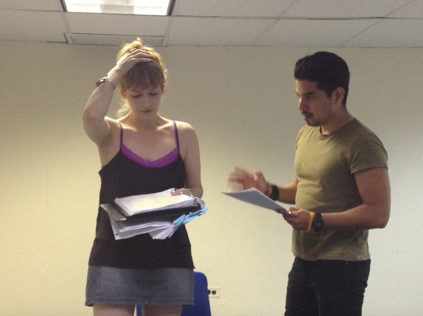 Photo Flash: In Rehearsal for THE GOD GAFFE at FringeNYC