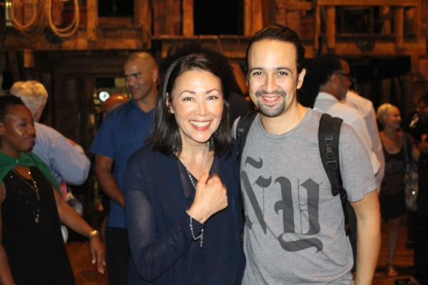 Ann Curry and Lin-Manuel Miranda
