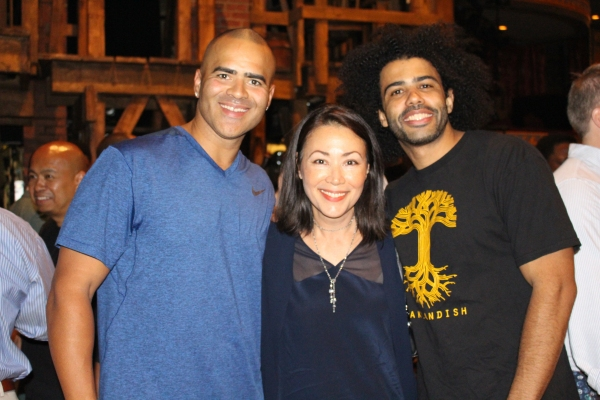 Christopher Jackson, Ann Curry and Daveed Diggs