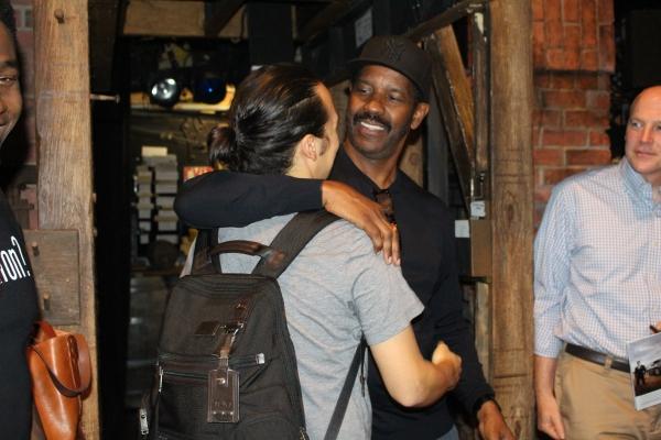 Photo Coverage: HAMILTON Gets Starry! Denzel Washington, Aziz Ansari, Zachary Quinto, and Ann Curry Chill with HAMILTON Cast