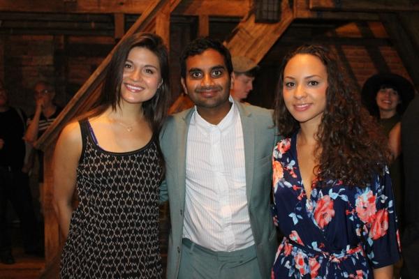 Phillipa Soo, Aziz Ansari and Jasmine Cephas Jones