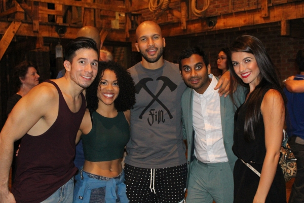 Jon Rua, Alysha Deslorieux, Sydney James Harcourt, Aziz Ansari and Carleigh Bettiol