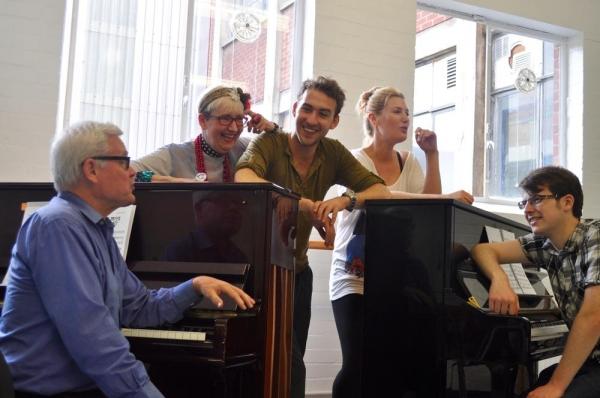 Stuart Pedlar, Su Pollard, Grant McConvey, Marianne Benedict and Dan Glover Photo