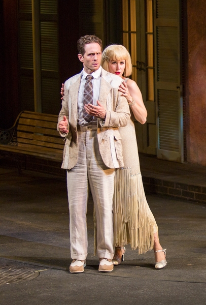 Glenn Howerton and Megan Dodds as Adriana
