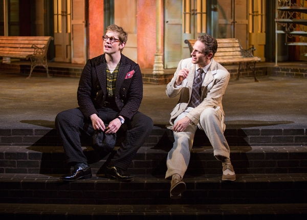 Rory O'Malley stars as Dromio of Ephesus/Dromio of Syracuse and Glenn Howerton as Antipholus of Ephesus/Antipholus of Syracuse