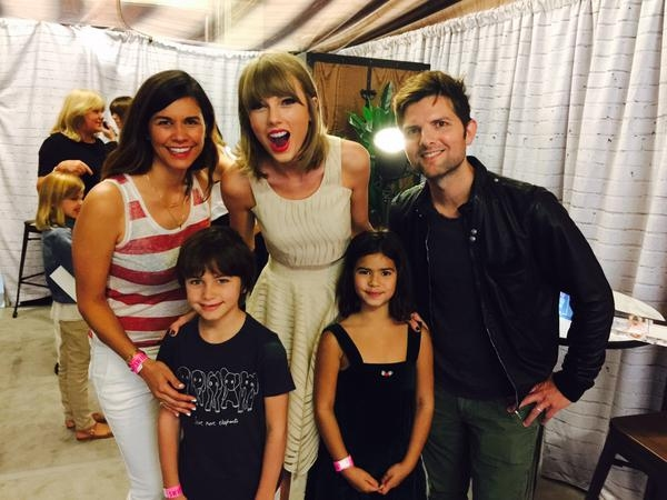 Taylor Swift with Adam Scott and Family