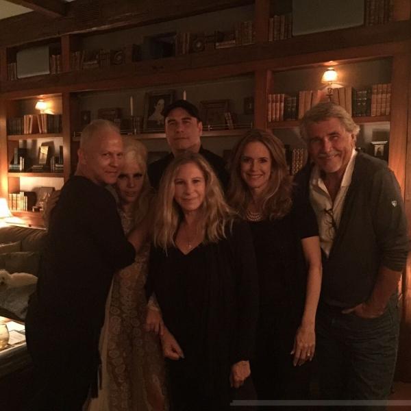 Ryan Murphy, Lady Gaga, John Travolta, Barbra Streisand, Kelly Preston, James Brolin Photo