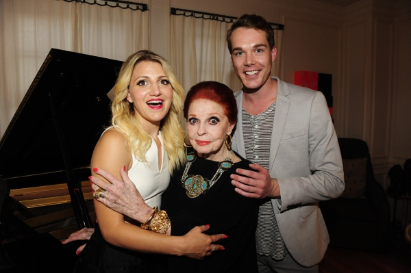 Mason McCulley with Annaleigh Ashford and Carole Cook
