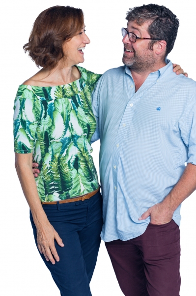 Haydn Gwynne and Artistic Director Peter DuBois