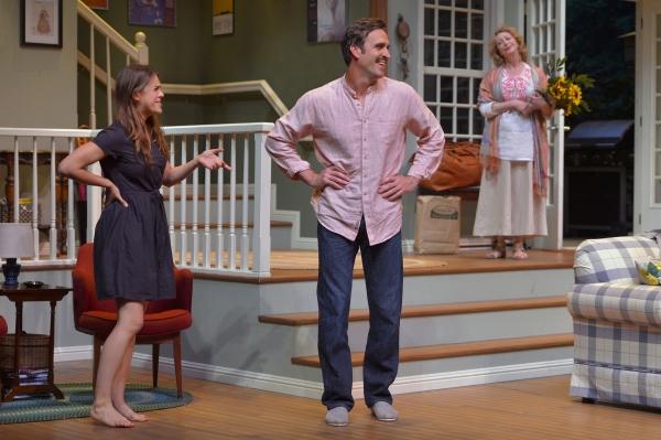 Susie Keegan (Rosie Hallett) greets Michael Astor (Jason Kuykendall) with Anna Patter Photo