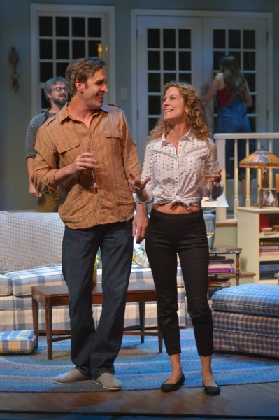 Michael Astor (Jason Kuykendall) shares a laugh with Nell McNally (Marcia Pizzo)