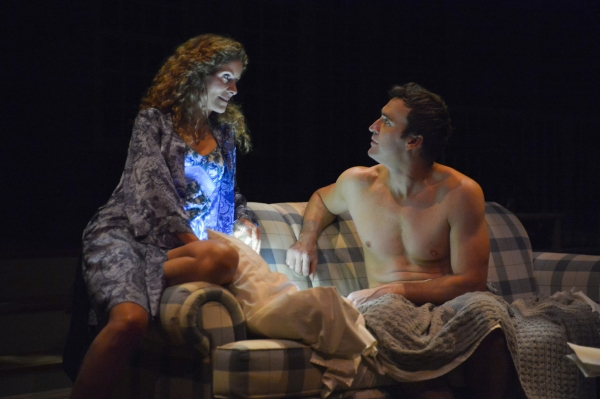 Nell McNally (Marcia Pizzo) and Michael Astor (Jason Kuykendall) share a moment