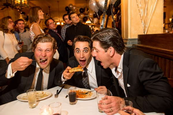 Photo Flash: Actors from Broadway's JERSEY BOYS Performs at Carmine's 25th Anniversary Celebration