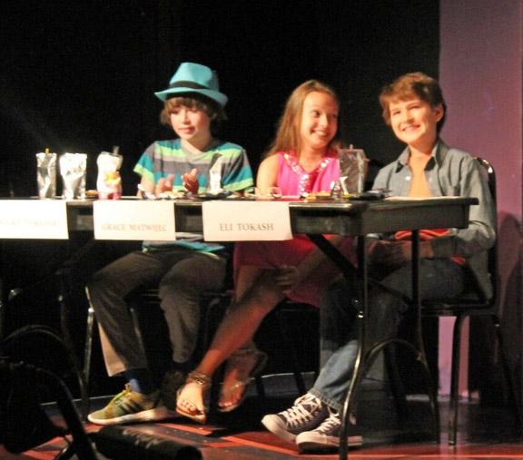 The Judges: Nicky Torchia, Grace Matwijec, and Eli Tokash.