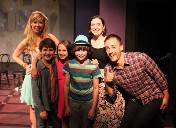 Emily McNamara with Eli Tokash, Grace Matwijec, and Nicky Torchia, and Christiana Cole and Joe Kinosian.