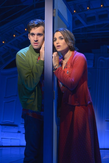 Samantha Barks and Adam Chanler-Berat