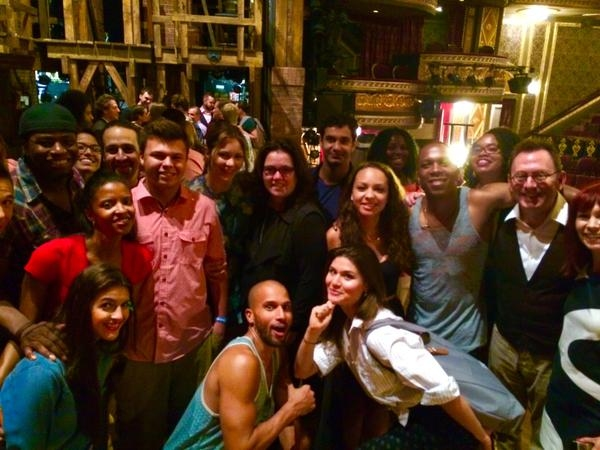 HAMILTON cast with Rosie O'Donnell, Katharine McPhee, Carrie Preston, and Michael Emerson