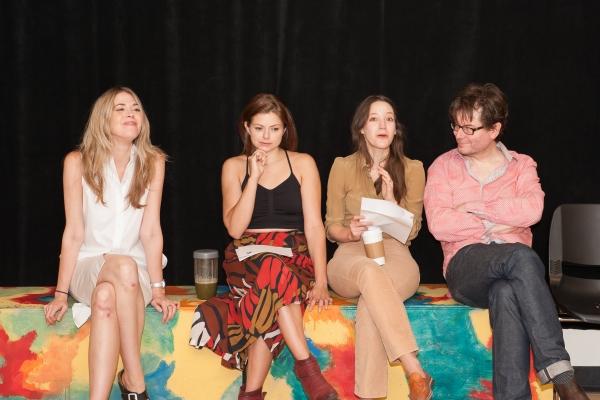Lucy Owen, Izzie Steele, Brooke Bloom and director James Macdonald