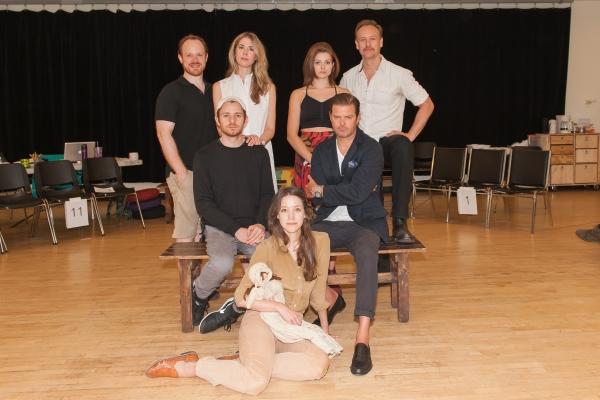 Sitting: Brooke Bloom. Front row: Chris Perfetti, Clark Thorell. Standing: Sean Dugan, Lucy Owen, Izzie Steele, John Sanders