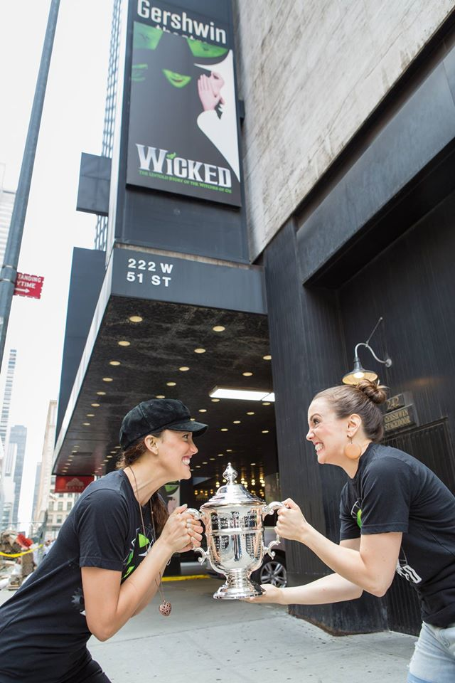 PHOTO FLASH: WICKED's Caroline Bowman and Kara Lindsay Work Their Magic With The U.S. Open Trophy