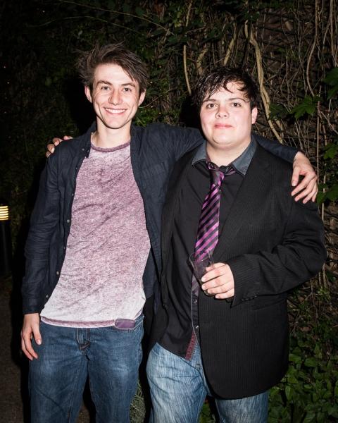 Luke Ward-Wilkinson (Ralph) and Anthony Roberts (Piggy)