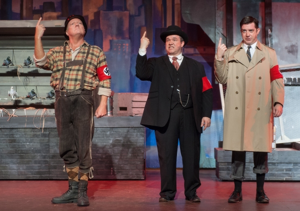 Frankz Liebkind (Alan Payne), Max Bialystock (Sean Patterson), Leo Bloom (Gary Rucker)