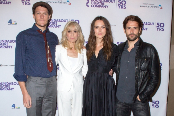 Gabriel Ebert, Judith Light, Keira Knightley, Matt Ryan