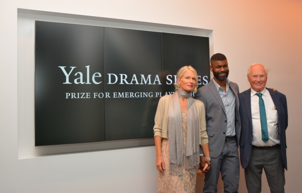 Barbara Seyda (Playwright/Honoree), Niegel Smith (') and Nicholas Wright (Judge)