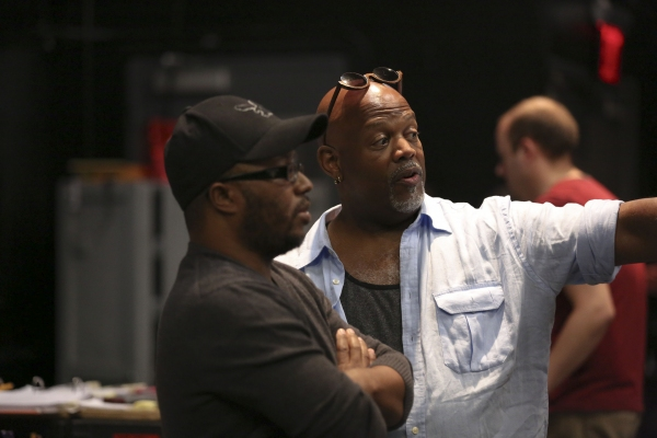 Playwright Robert O'Hara and director Kent Gash in rehearsal for BARBECUE