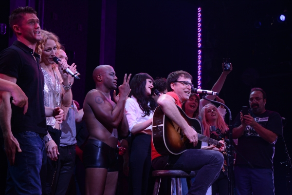 Spencer Liff, Shannon Conley, Neil Patrick Harris, Taye Diggs, Lena Hall and Stephen Trask