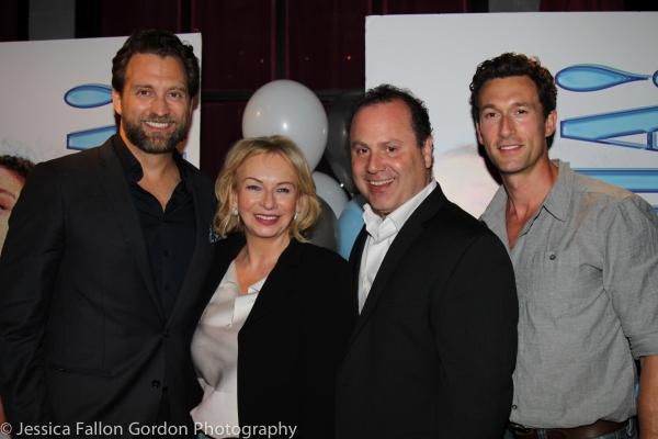 Graham Rowat, Judy Craymer, Dan Cooney and Aaron Lazar Photo