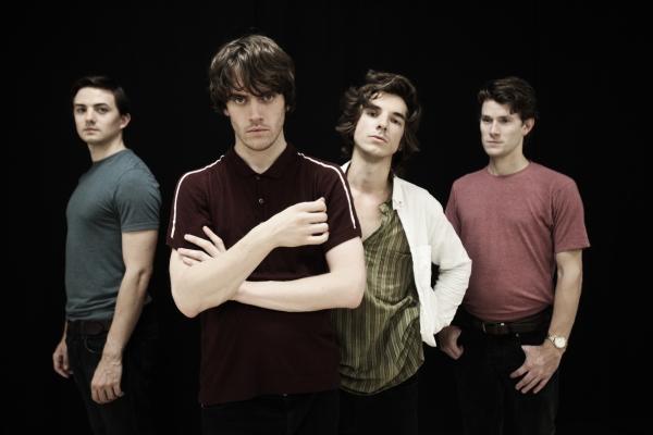 Damien Walsh (Mick Avory), Danny Horn (Ray Davies), Oliver Hoare (Dave Davies) and Tom Whitelock (Pete Quaife)