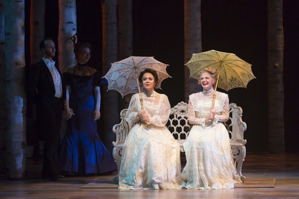 Morgan Kirner as Anne Egerman and Lauren Molina as Countess Charlotte Malcolm