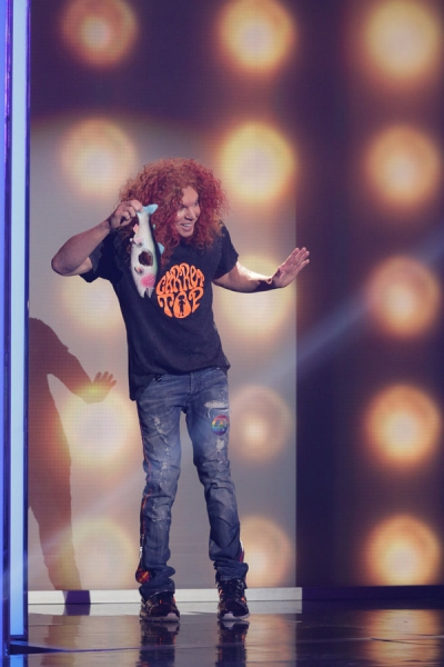 BEST TIME EVER WITH NEIL PATRICK HARRIS -- Episode 101 -- Pictured: Carrot Top -- (Photo by: Greg Endries/NBC)