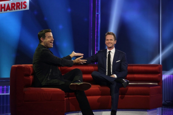 BEST TIME EVER WITH NEIL PATRICK HARRIS -- Episode 101 -- Pictured: (l-r) Carson Daly, Neal Patrick Harris -- (Photo by: Greg Endries/NBC)