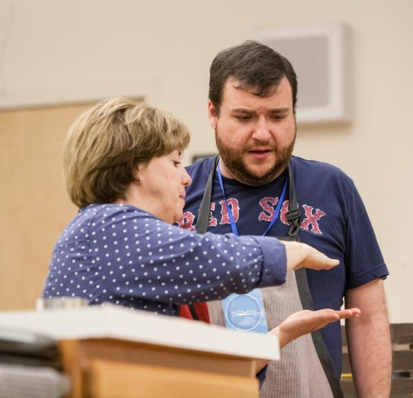 Photo Flash: In Rehearsal with Signature Theatre's CAKE OFF, Starring Todd Buonopane and Sherri Edelen