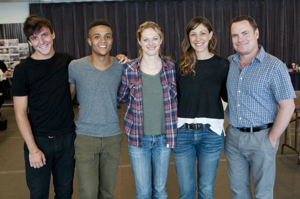 The company of KILL FLOOR:  Samuel H. Levine, Nicholas L. Ashe, Marin Ireland, Natalie Gold, and Danny McCarthy