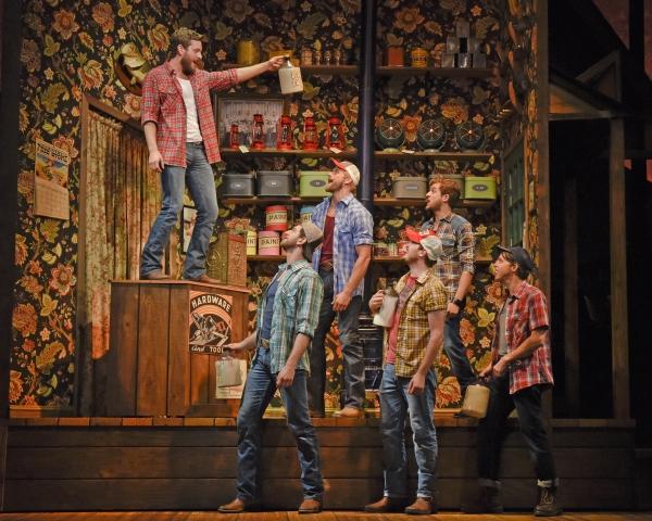 Ken Clark (left) and the men of MOONSHINE: That Hee Haw Musical