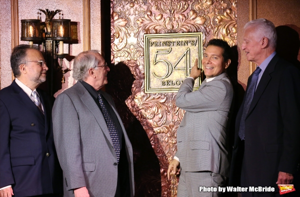 Richard Frankel, Steven Baruch, Michael Feinstein and Tom Viertel attend the unveiling of the new Feinstein''s / 54 Below on September 17, 2015 in New York City.