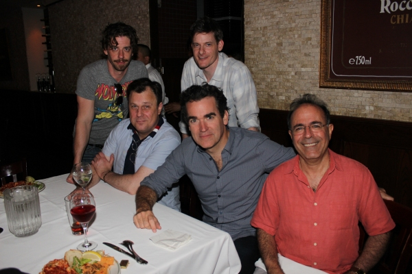 Christian Borle, Brooks Ashmanskas, Brian Shepard, Brian d''Arcy James and Antony Geralis