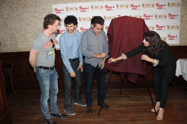 Christian Borle, John Cariani, Brian d''Arcy James and Valerie Smaldone